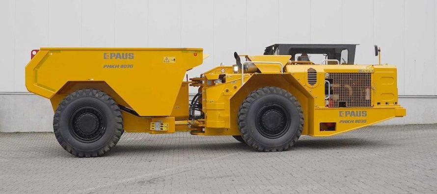 PAUS introduce noul camion minier subteran PMKM 8030