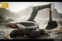 Gold Award la gala iF Design Awards 2021 pentru excavatorul Doosan Concept-X orientat spre viitor