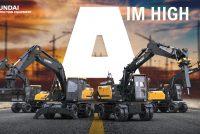 Hyundai a lansat patru noi excavatoare pe roți în seria A