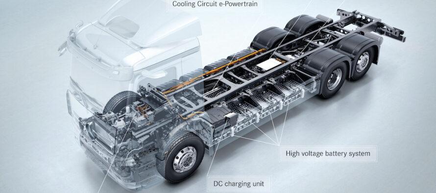 Mercedes-Benz a prezentat în premieră mondială camionul eActros