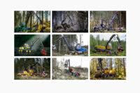Top 9 harvestere cu 8 roți pentru aplicații forestiere ce folosesc metoda cut-to-length (CTL)