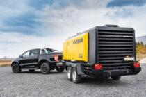 M255 este cel mai mare compresor mobil Kaeser cu injecție de ulei destinat piețelor europene și nord-americane