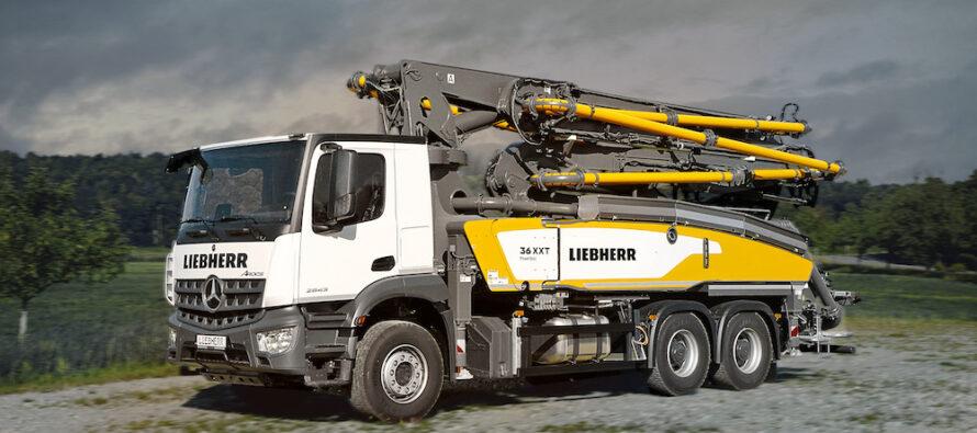 Tehnologii noi într-o mașină compactă: noua autopompă de beton Liebherr 36 XXT